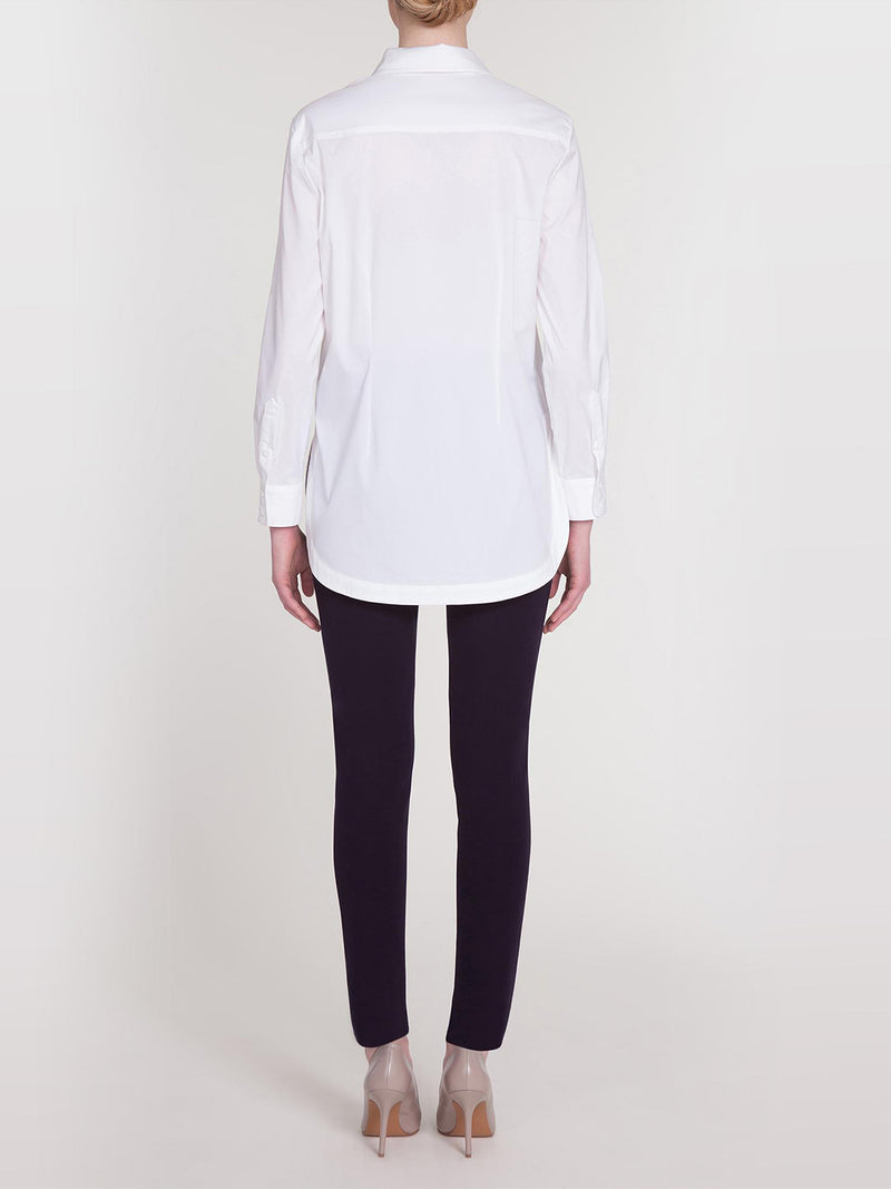 Long Sleeve Stretch Cotton Blouse