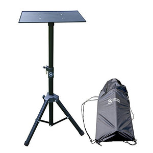 "Laptop Projector Tripod Stand – Adjustable Table With Sturdy Base – Portable Set With Storage Bag 30"" – 44"""