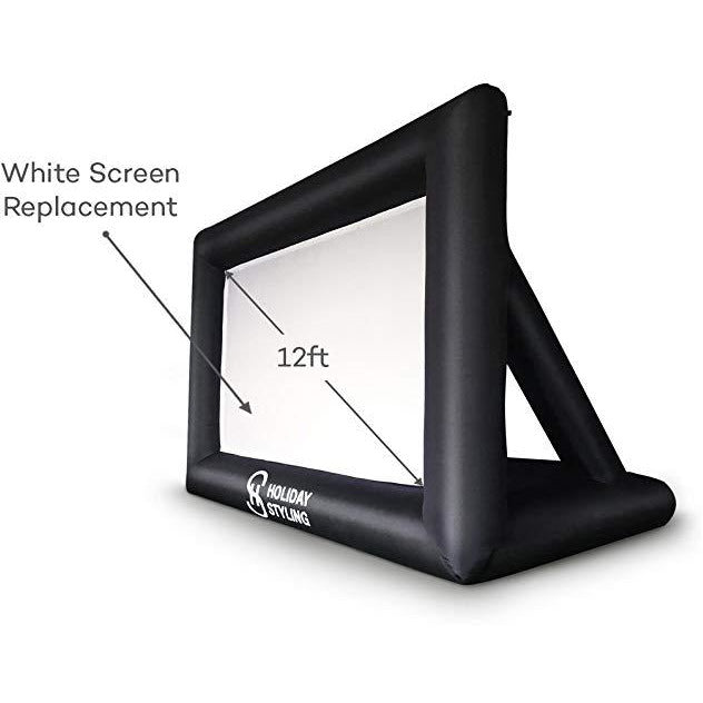 Projector Screen Replacement (White Part Only 12ft)