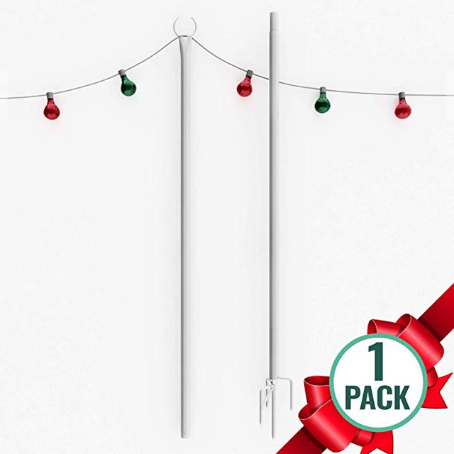 White Outdoor String Lights Pole (1 x 9ft)