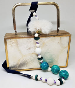 Necklace made from recycled fur (options)