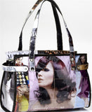 Barrel purse made from recycled fashion magazines