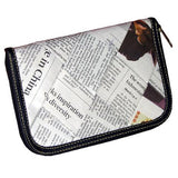 Zip wallet made from recycled newspaper
