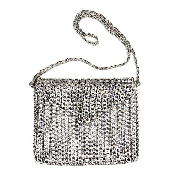 Soda pop-top shoulder bag, Tall Silver Eco-Charm