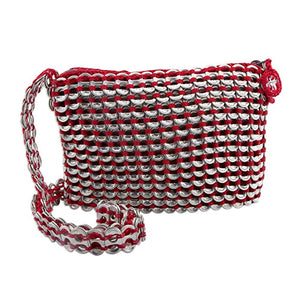 Soda pop-top shoulder bag, Chic Red