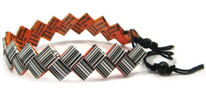 Cuff Bracelet made from candy wrappers (narrow)