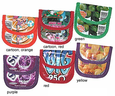 Coin Purse made from recycled juice boxes