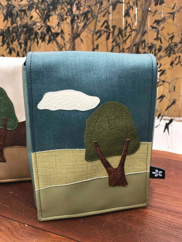 Petit Landscape Purse made from reclaimed vinyl (options)