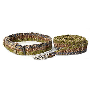 Hemp Dog Collar and Leash