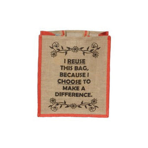Jute Shopping Bag - Choose 2 Reuse