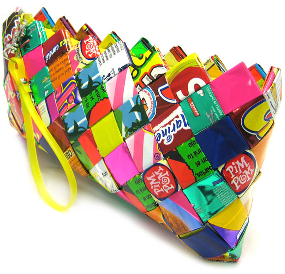 Baguette Clutch Bag - Candy Wrappers