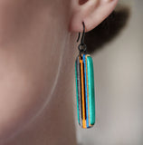 Pier Dangle Earrings made from repurposed skateboards