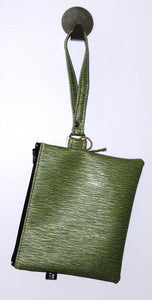 Wristlet made from reclaimed textiles (options)