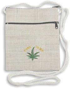 Hemp Embroidered Passport Front