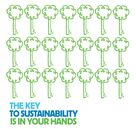 People Towels® - Serviettes personnelles réutilisables- Green Keys