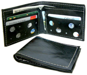 Wallet made from recycled inner tubes