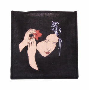 Fourre-tout en jute- Black Hawaii