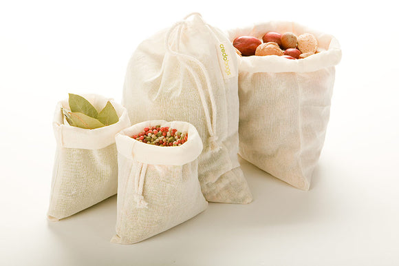 Muslin Bulk Bags – 4 pack (2 small/2 large)