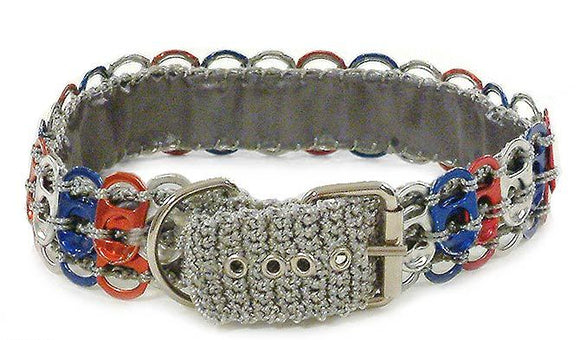 Recycled Soda Pop-top Dog Collar