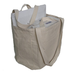 Flat Bottom Recycled Canvas Tote bag