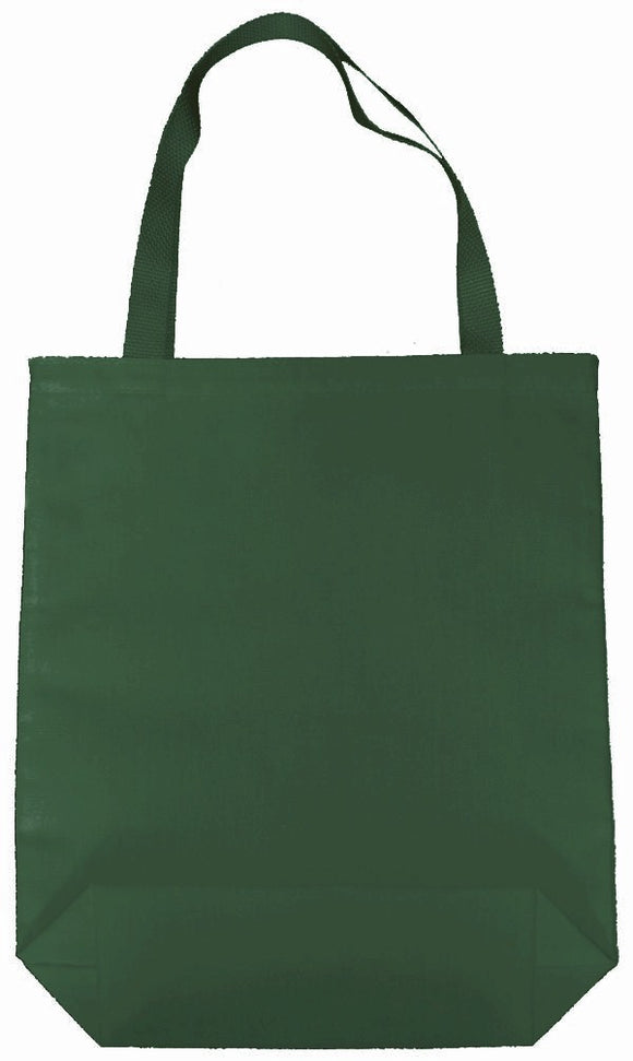 Ecospun Canvas Tote Bags made from 100% plastic bottles-Forest Green