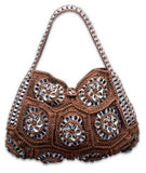 Soda pop-top handbag, Mandala Terra