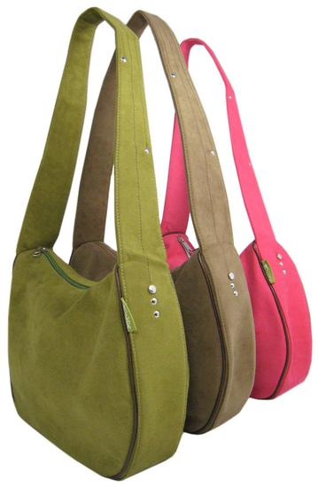 Rain Handbag made from recycled microsuede