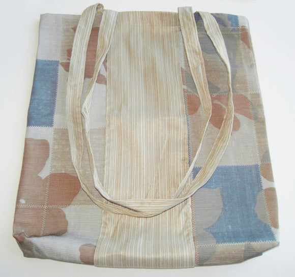 Shopping tote bag made from recycled textiles  (options)