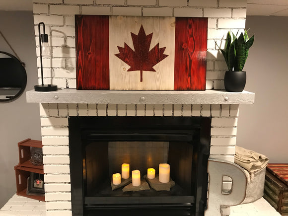 Canadian Wooden Flag