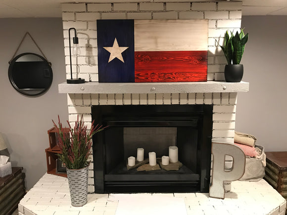 Jamie Texas Flag with Navy Emblem Engraved
