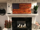 The Natural American Wooden Flag, Rustic Decor, Wood Flag, Handcrafted Rustic Flag, Veteran Made