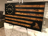 "The Rustic Betsy Ross with Gadsden ""Don't Tread on Me"" engraved"