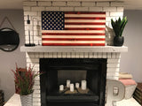 """We the People"" The Original Red, White and Blue Charred American Wooden Flag, Rustic Decor, Handcrafted"