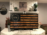 Woodard Betsy Ross 1776 The Rustic Charred Black Stripe Flag