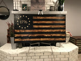 Betsy Ross 1776 The Rustic Charred Black Stripe Flag
