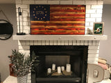 Betsy Ross 1776 The Natural American Wooden Charred Flag
