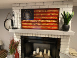 """We the People"" Betsy Ross 1776 The Natural American Wooden Charred"