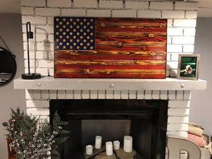 "Amanda Natural Pledge Flag 26"" X 48"""