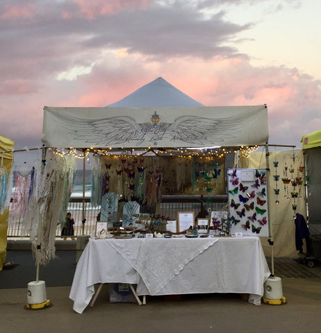 Our heavenly eareth art market stall at the surfers paradise night markets