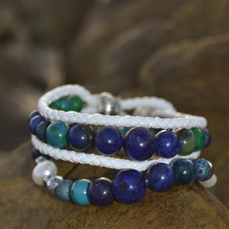 Whale Song Essesntial Oil Bracelet Stack of Two