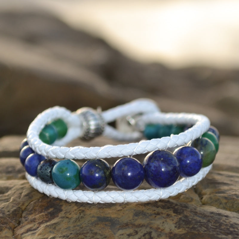 Whale Song Essesntial Oil Bracelet Stack of Three