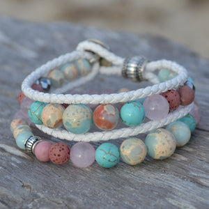 Dolphin Dreaming Essential Oil Bracelet Stack of 2
