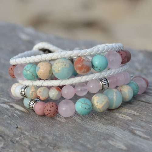 Dolphin Dreaming Essential Oil Bracelet Stack of 3