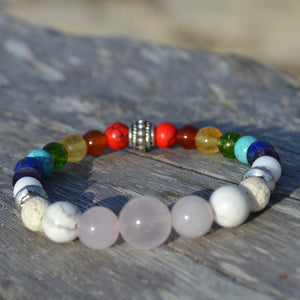 White Buffalo Essential Oil Chakra Bracelet