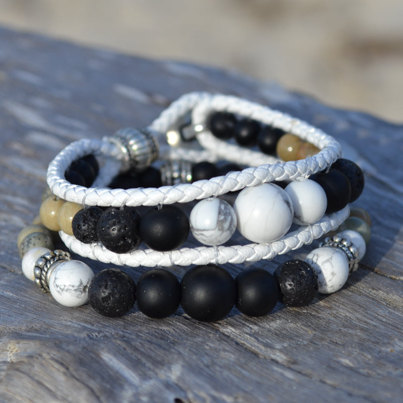 Black Panther Essential Oil Bracelet Stack of Two