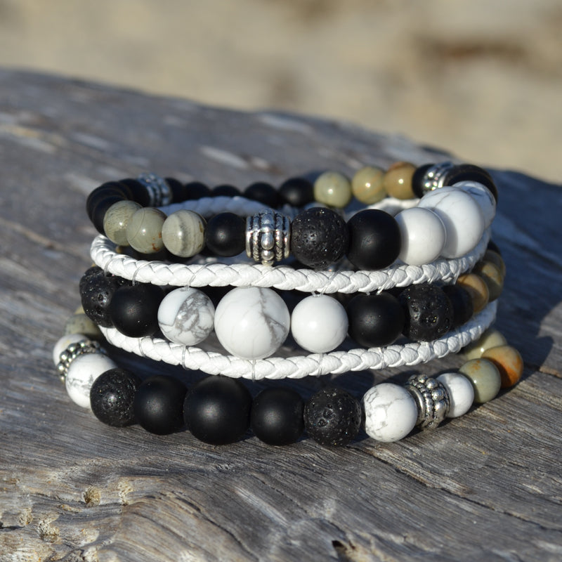 Black Panther Essential Oil Bracelet Stack of Three