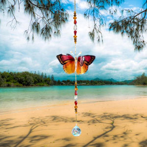 Sunset hand made butterfly crystal suncatcher by Kylee Joy