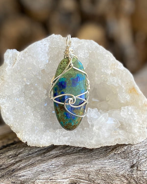Azurite/Malachite pendant necklace