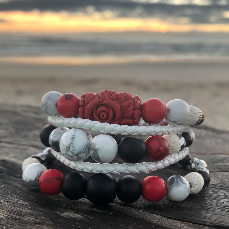 Guardian of The Grail Essential Oil Bracelet Stack of Three