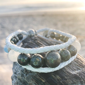 Star Wolf Essential Oil Bracelet Stack of Three